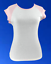 Bella+Canvas Women/'s White Tee T-Shirt Top Short Pink Raglan Sleeves Large L New
