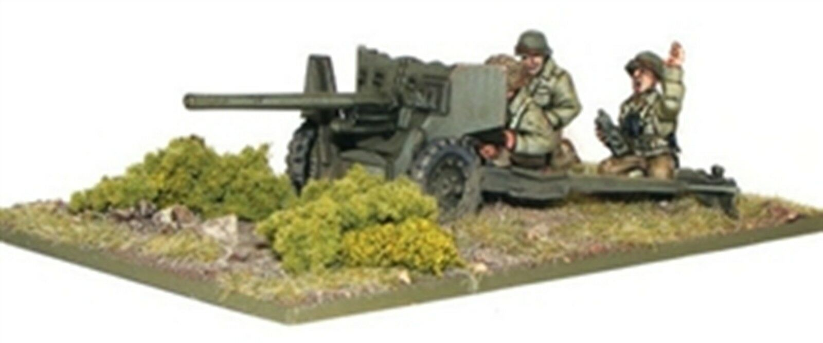 NEW BOLT ACTION MINIATURE US ARMY M1 57MM ANTI-TANK GUN FIGURE GAMES WGB-AI-30
