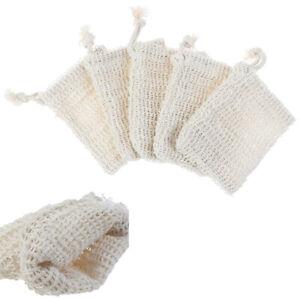 5Pcs-Natural-cotton-and-linen-soap-bag-bath-flower-handmade-soap-storage-ws