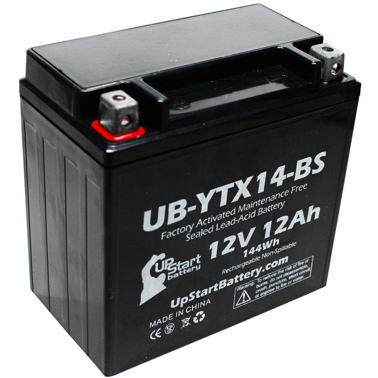 12V 12AH Battery for 2004 Honda TRX500FA Fourtrax Rubicon 450 CC