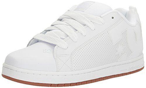 DC Mens Court Graffik SE Skate Shoe White//Red//Grey 14 D M US