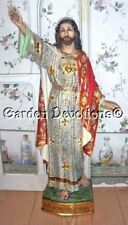 """Incredible! 23"""" RISEN JESUS CHRIST STATUE Spanish Style HAND-PAINTED GOLD ACCENT"""