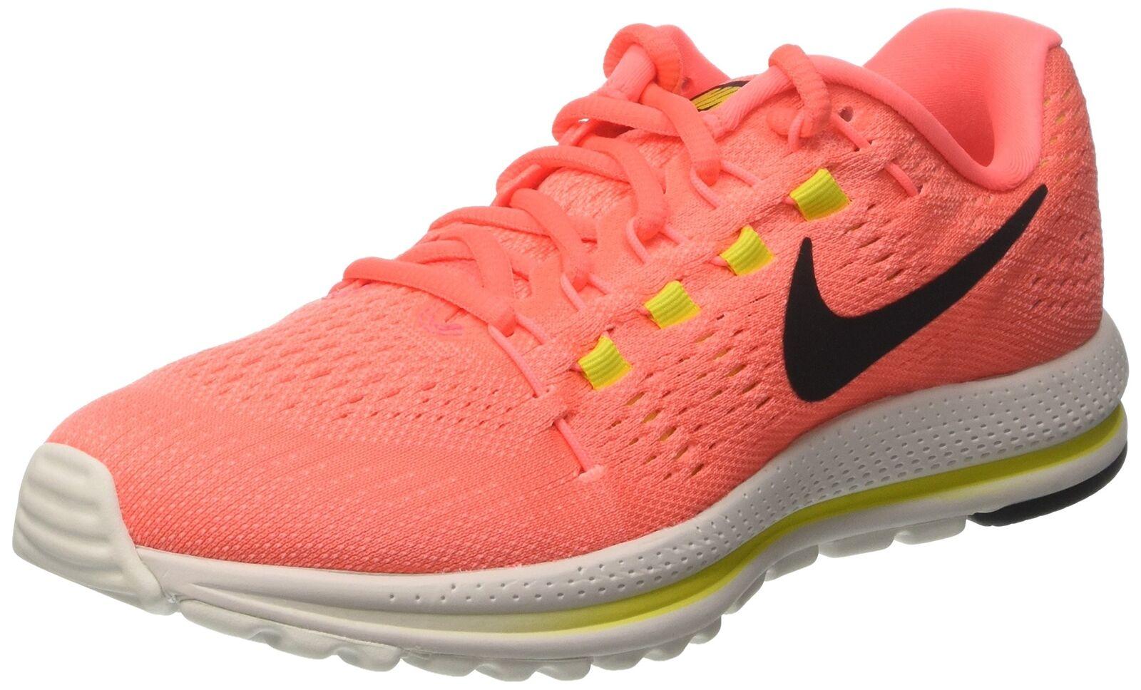 NIKE Womens Air Zoom Vomero 12 Running Shoe, Hot Punch/Black/Lava Glow/Electr...