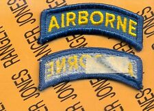 US ARMY AIRBORNE TAB TEAL BLUE & YELLOW Special Forces Proposed patch m/e