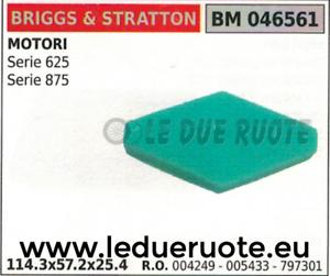 004249 005433 Spugna Filtro Aria Briggs & Stratton Serie 625 875 114.3x57.2x25.4