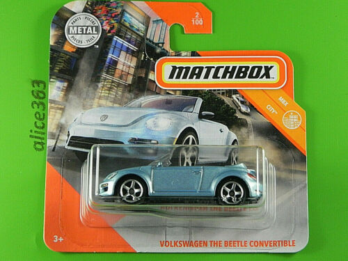 neu in OVP MBX City Volkswagen The Beetle Convertible Matchbox 2020 2