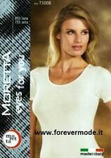 Women vest top MBV shoulder narrow in wool silk with profiles macramé art 93061