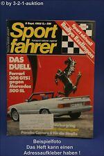 Sportfahrer 9/82 Ferrari 308 GTSi DB 500 SL BMW 323i
