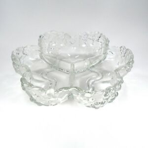 Decorative Clear Glass Bowls.Details About Clear Glass Bowl Dish Decorative Flower Partitioned Kitchen Service Heavy Duty