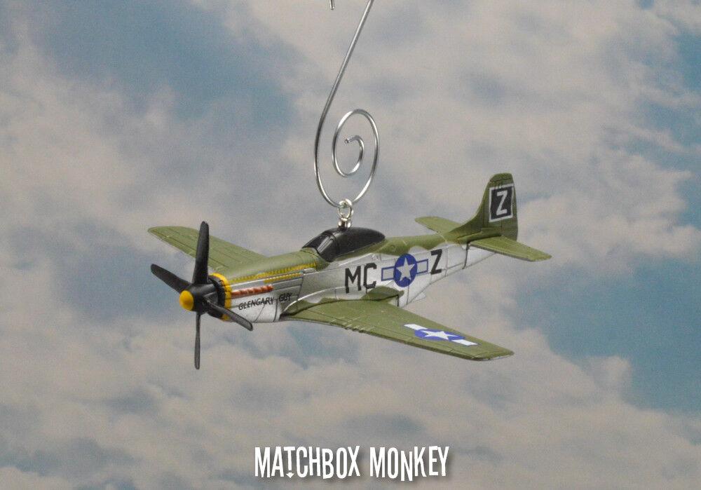 hasta un 50% de descuento II II II Guerra Mundial Fighter P-51 Mustang Usmc Navidad Adorno Avión Individual Prop  contador genuino