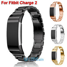 New Stainless Steel Metal Watch Band Wrist Strap For Fitbit Charge 2 Black