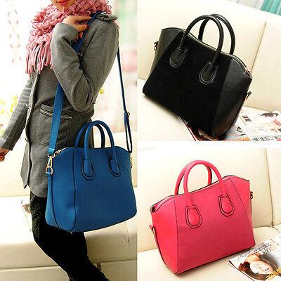 Women Handbag Fashion Shoulder Bags Satchel Tote Purse Frosted PU Leather Bag