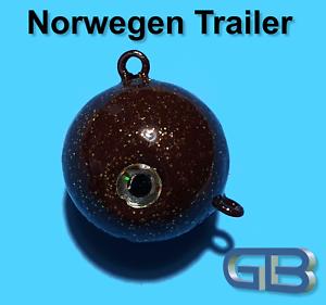 Norwegen-Trailer-70g-110g-140g-170g-Sea-Trailer-Kugelblei-mit-Ose-Jigkopf