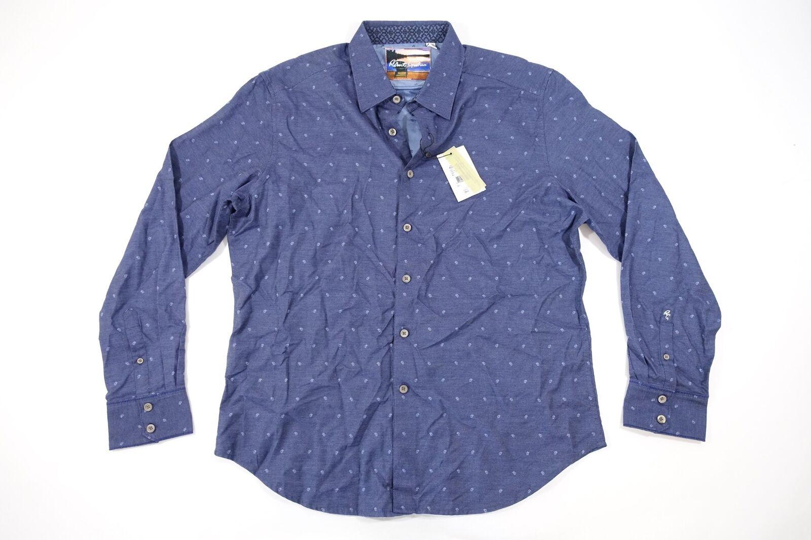 ROBERT GRAHAM GOUVERNEUR PAISLEY blueE XL CLASSIC FIT BUTTON FRONT SHIRT NWT NEW