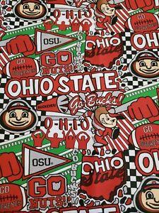 Ohio State University Fat Quarter-NCAA Collegiate 100/% Cotton Fat Quarter