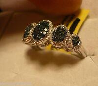 Blue Diamond Ring Size 6 59 Diamond .50tcw Msrp $959.00