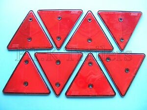 8-x-Red-Triangle-Reflectors-for-Driveway-Gate-Fence-Posts-amp-Walls-M
