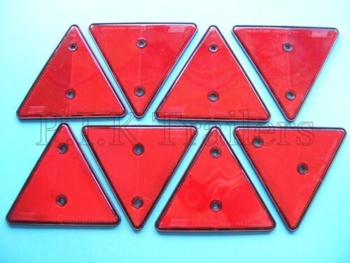 8 x Red Triangle Reflectors for Driveway Gate Fence Posts /& Walls  #M