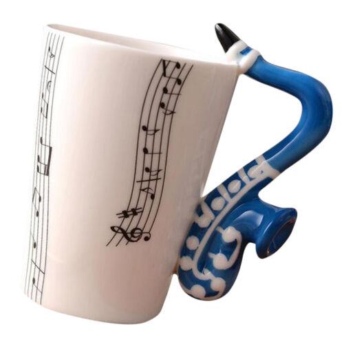 tasse en céramique café mug instrument mug cadeau créatif bleu saxophone
