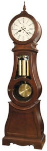 Ridgeway-2567-Broman-Cherry-Scandanavian-Style-Round-Top-Grandfather-Clock