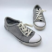 a81b061b5a0b G by Guess Ggoona Women Gray Canvas Studded Sneaker Shoe Size 9M Pre Owned
