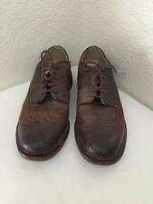 JOHN A FRYE Brown Distressed Leather Wingtip Oxfords Shoes  Men 9D