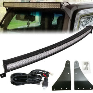 For Hummer H3 Upper Roof Windshield Curved 52 Quot 300w Led