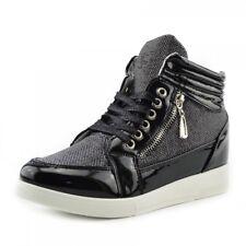 c13d38596e67 item 6 Women's Hidden Wedge Heel Sparkly Glitter High Top Trainer Fashion  Sneakers -Women's Hidden Wedge Heel Sparkly Glitter High Top Trainer  Fashion ...