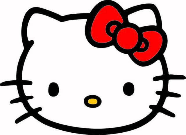 Cute Pink Kitty Bow Auto Car Van Vinyl Decor Graphics Removable Decal Sticker