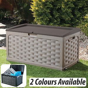 Image Is Loading Large Garden Storage Box Cushion Box Shed Unit