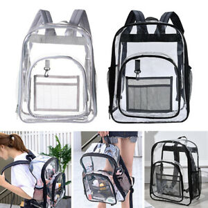 2x  See Through Clear PVC Backpack Transparent Bag Concert  College