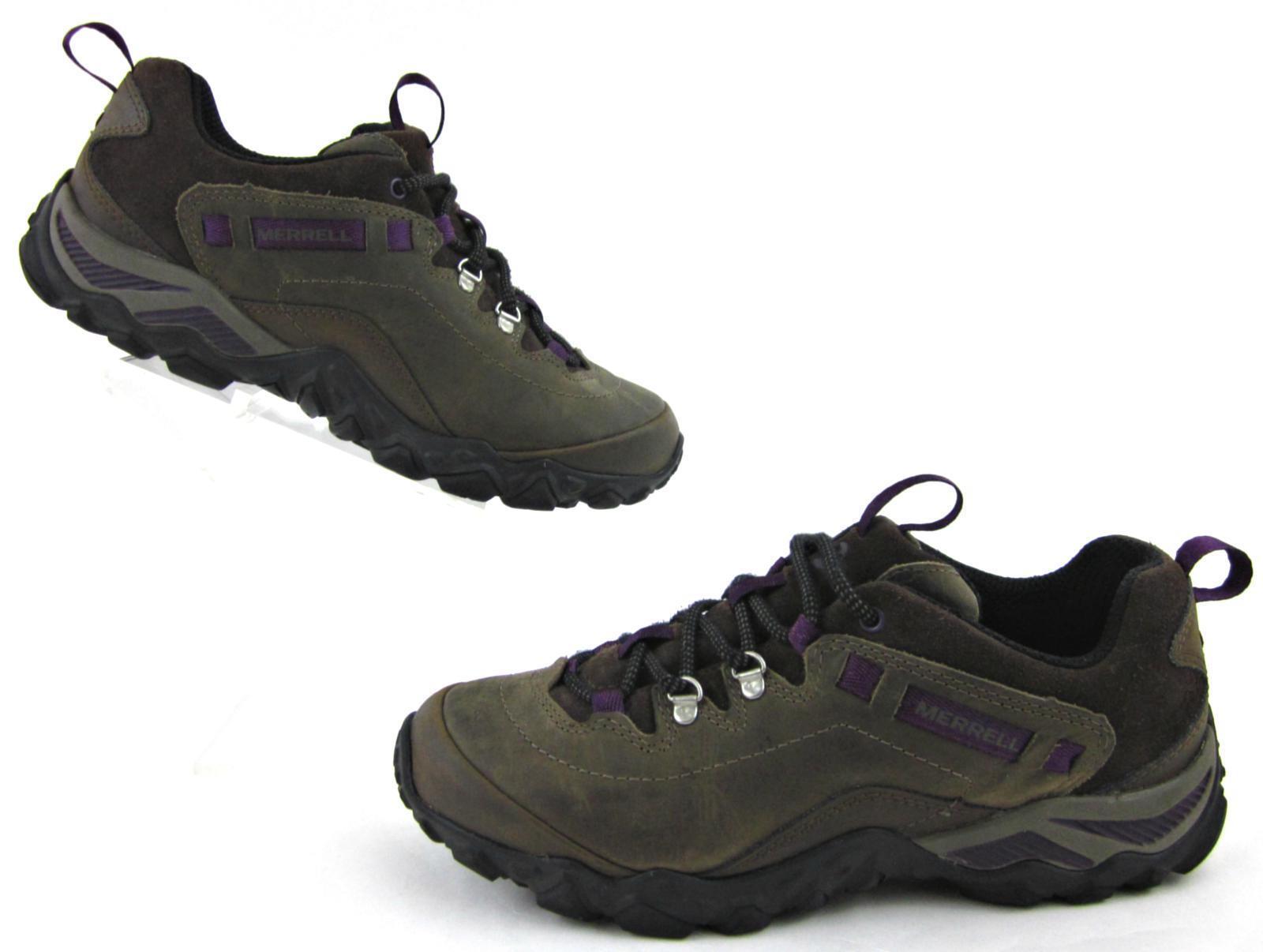Merrell Chameleon Shift Traveler Purple Hiking Schuhes Olive Braun Purple Traveler Leder US 7.5 719166