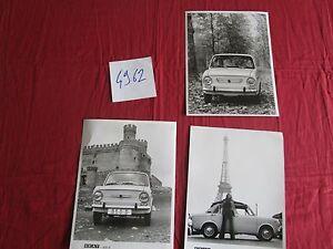 N°4962 SEAT 850 D 3 photos constructeurs 1971-1973