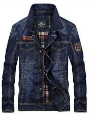 New Men's retro jackets casual denim jacket jeans coat Slim lapel outwear tops