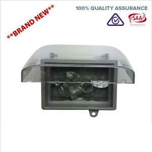Weatherproof-Box-Enclosure-Mounting-with-Clear-Lid-For-Power-Point-Outlet