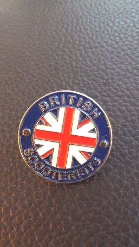 LOYALIST UNION JACK  VESPA LAMBRETTA SKINS ENAMEL BADGE BRITISH SCOOTERISTS