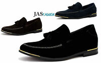 Mens Suede Loafers Fashion Shoes Smart Dress Slip On Tassel Casual Size Uk 6-11