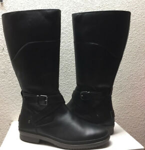 650ea5581d9 Details about UGG EVANNA BLACK LEATHER RIDING WATER RESISTANT BOOT US 11 /  EU 42 / UK 9.5 NEW