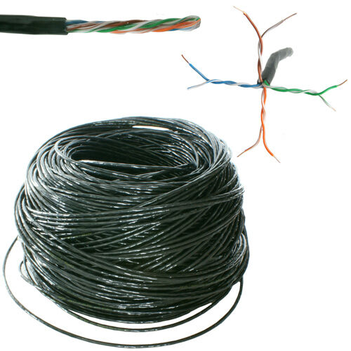 25m Outdoor External CAT5 Ethernet Network Cable Reel/Drum - LAN UTP RJ45 CCA