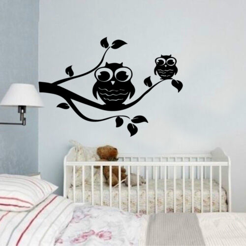 Owl tree branch  Animals Kids Quote Wall Stickers Art Room Removable Decals DIY