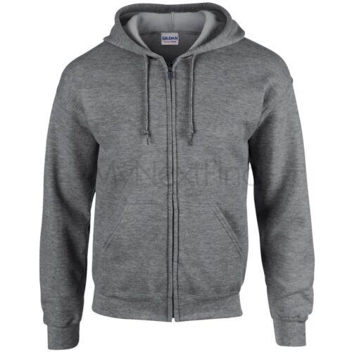 Gildan Heavy Blend Full Zip Hoodie Hooded Sweatshirt