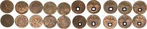 3.Reich Lot 10 Coins To 2 Pfennig J.362 1940 E Vorzüglich-prägefrisch