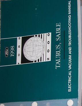 1998 Ford TAURUS Mercury Sable Electrical Wiring Diagram Service Shop  Manual | eBay | 1998 Mercury Sable Wiring Diagram |  | eBay