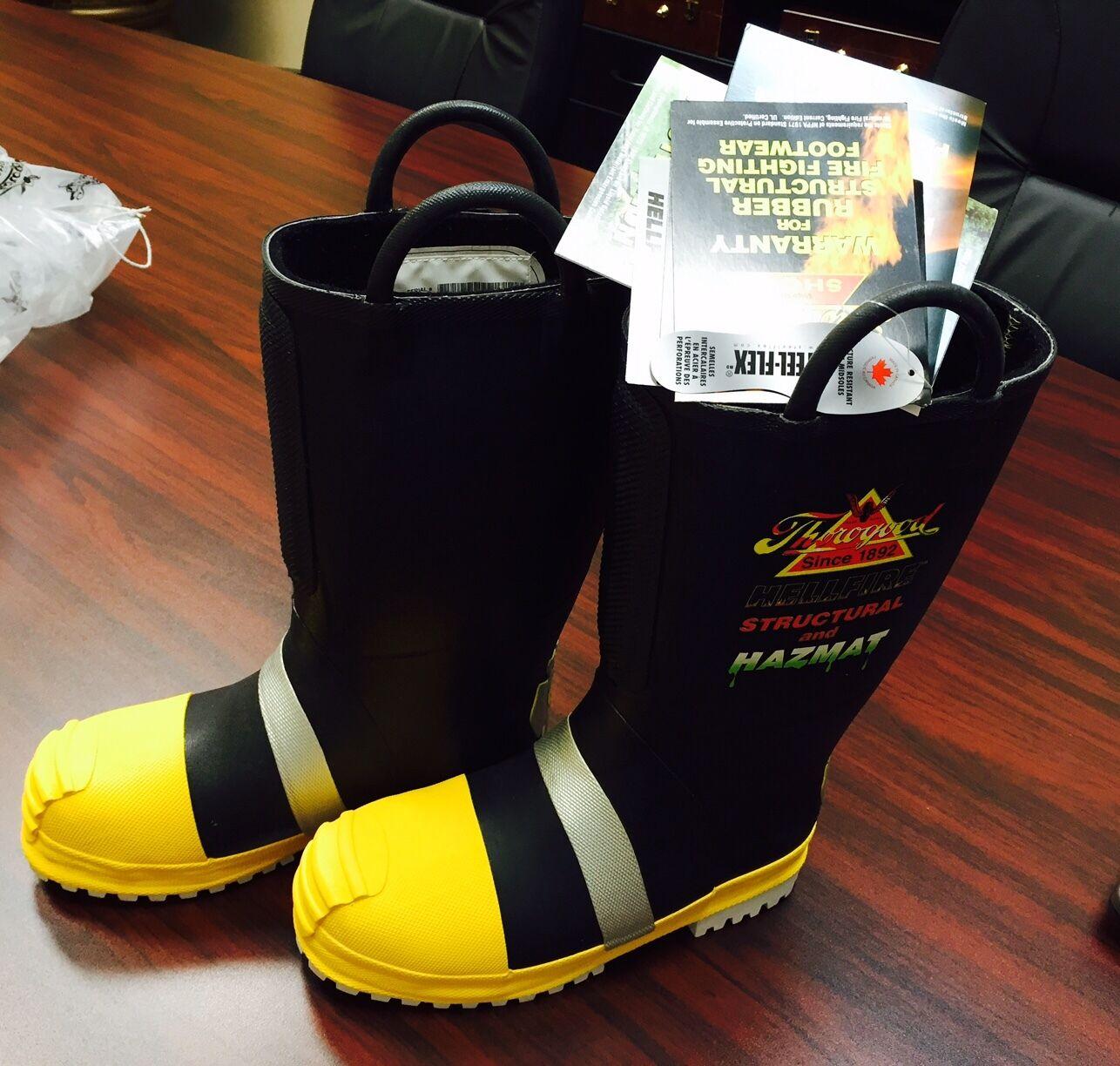 THgoldGOOD SHOES 807-6003 Ins Fire Boots, Mens 1PR SIZE 7