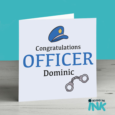 Personalised New Job Card For A Police Officer - Congratulations - Leaving  Card | eBay