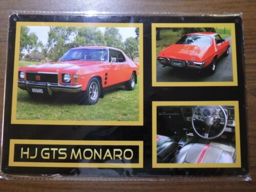 HOLDEN HQ GTS MONARO Metal Signs Australian Muscle Cars MAN CAVE SHE BAR