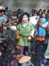 1 pastore con fagotto TERRACOTTA 8cm pastori presepe nativity shepherds crib p