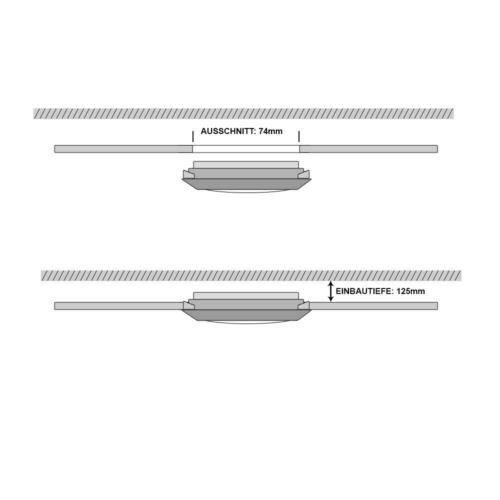 3x LED Einbau Strahler Decken Lampen verstellbar Arbeits Zimmer Spot Leuchten