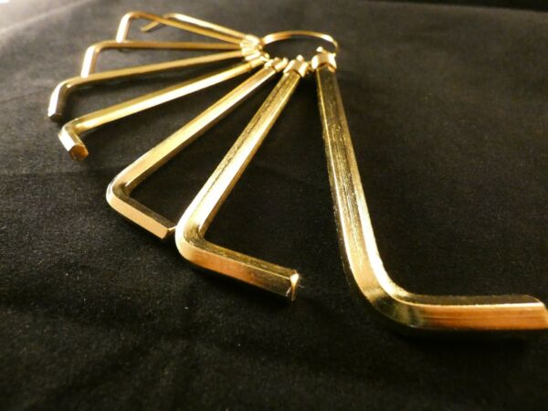 Klug 24 Karat Vergoldet Imbus Schlüssel Werkzeug Innensechskant Winkelschlüssel Moderne Techniken