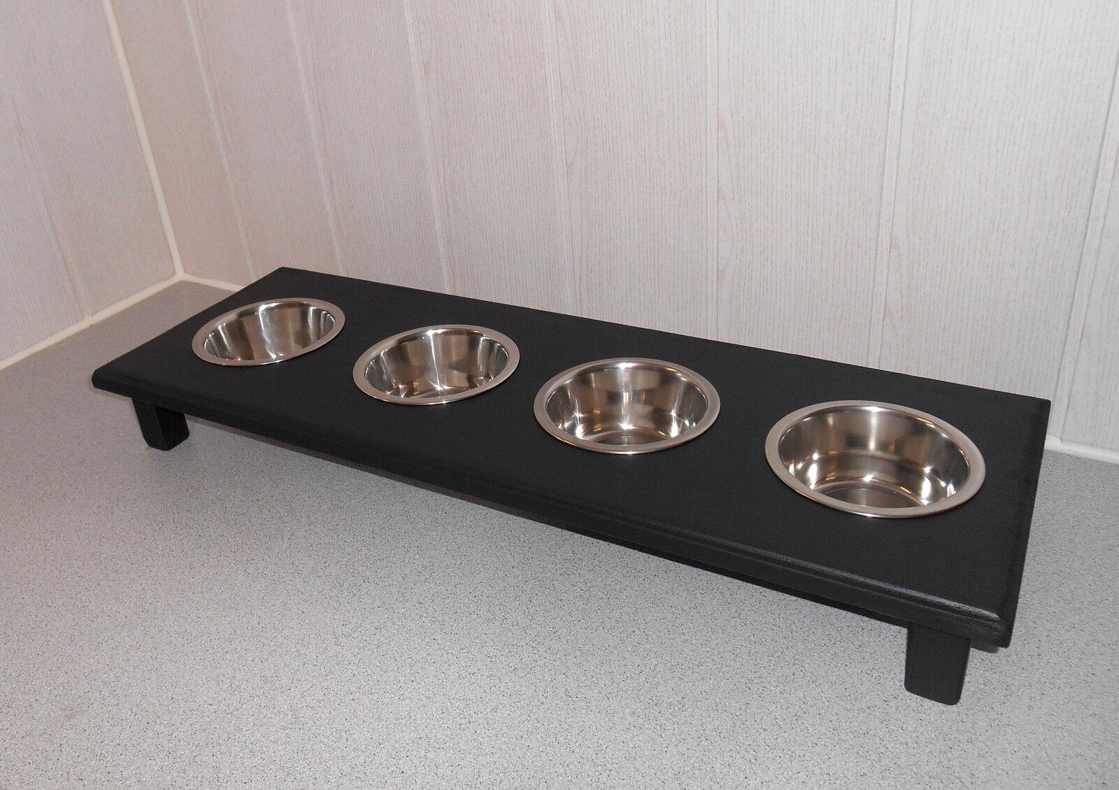 Welpenbar   Futternapf Futterbar mit 4 Näpfen, Ideal für 2 Katzen (217)